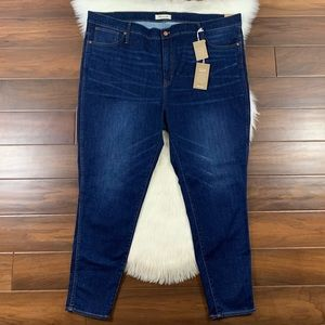 "Madewell Thermolite 10"" High Rise Skinny Jeans"